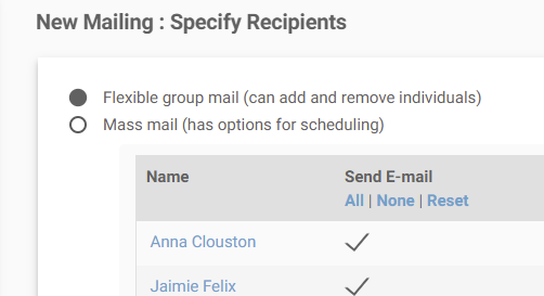 Scheduled mail